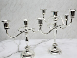 Silver Plated Candelabra, 2 Non Tarnish Candle Holders