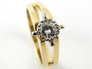 18ct Size L Yellow Gold Ladies Diamond Ring