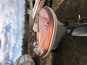 14 foot anchor boat, motor and trailer
