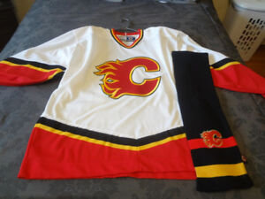 Calgary Flames Sweater and Scarf