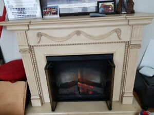 Victorian style electric fireplace