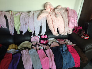 Assorted baby girl clothes 0-2T