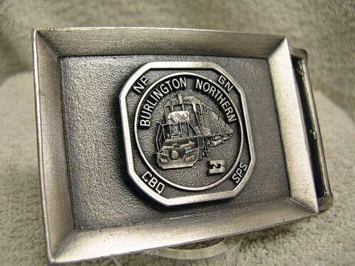 Vintage Burlington Northern Belt Buckle New Old Stock (never worn) Pewter Finish