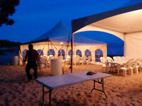 Tents & Events; tents, chairs, table rentals