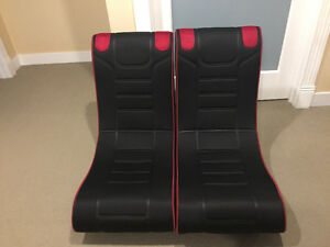 2 foldable gaming chairs for sale
