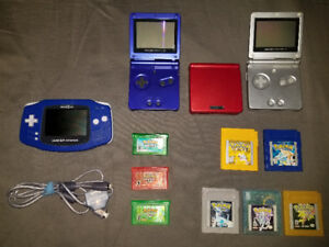NINTENDO GAMEBOY ADVANCE SP & VARIOUS POKEMON GAMES FOR SALE