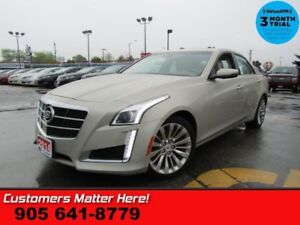 "2014 Cadillac CTS Luxury  AWD NAV LEATH ROOF CAM CS HID LD 18""-A"