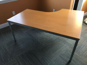 Two IKEA table desks