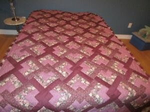 """2 NEW HANDMADE QUILTS :   """"LOVER'S KNOT"""""""