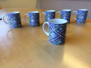 Six lovely china coffee cups