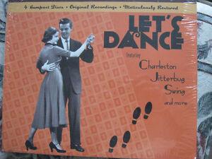 Let's Dance-4 cd  set-Chareston,Jitterbug,Swing era-New/sealed +