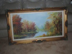 FIRST $75 TAKES IT ~  Fall Landscape by Den Braber / Oil