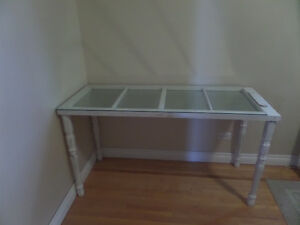 Antique Window Console Table
