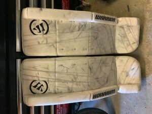Sr Warrior ritual goalie glove, blocker and pads