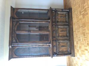 Real oak dining room furniture set.