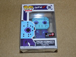 FUNKO POP BLUE JASON VOORHEES FRIDAY THE 13TH 8-BIT GAMESTOP, NM