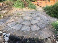Patio slabs circular
