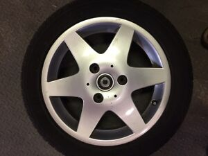Smart ForTwo full set Alloy rims and tires (OBO) Kitchener / Waterloo Kitchener Area image 1