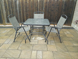 Patio Dining set, Patio chairs & Party foldable tables
