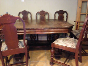 10 pcs Antique table/ cabinet set
