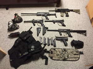 Paintball guns / gear