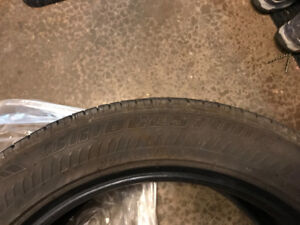 2 Run Flat WINTER tires  2014 BMW X3. 60% left. good back ups!