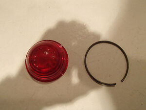 Vintage U.S.C. Co. Red GLASS Stop Tail Light Lamp LENS Car Truck