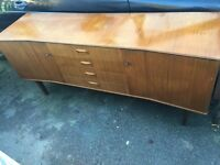 Vintage retro mid century shabby chic sideboard credenza tv cabinet