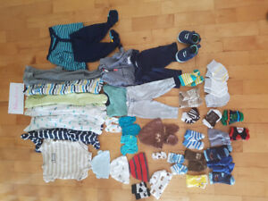 Newborn boy clothes lot