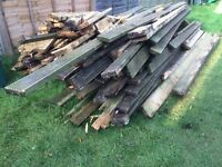 Assorted wood. Used decking and joists. Free to collector.