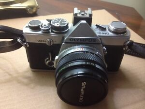 Olympus OM-2N 35mm SLR Camera with case