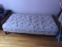 Single mattress and bed frame $59 each