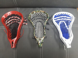 Lacrosse Sticks - 3 Heads and 3 Sticks *Reebok, Warrior,