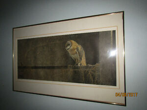 Robert Bateman numbered print ''Catching the Light - Barn Owl''