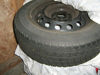 Four 14 inch snow tires with rims!!!!!!!!!!!!