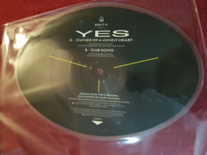 YES OWNER OF A LONELY HEART  45 RPM VINYL DISC ! MINTY