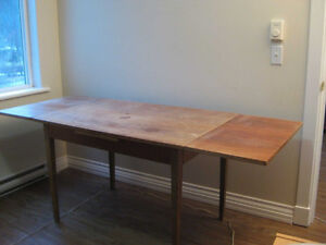 TEAK TABLE- SOLID WOOD EXPANDABLE 7'