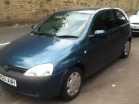 2001 51 plate corsa 1.2 16v t&t low miles runs mint no offers may s w a p