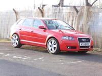 Audi A3 1.9TDI Sportback 2006 Sport, Red, 2006, FSH, 6 Months AA Warranty