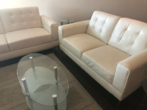 Sofa Set - Coffee table and TV stand - Excellent Condition