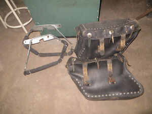 Harley Softail Heritage Saddlebags and Mounting brackets