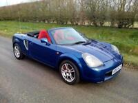 1999 TOYOTA MR-S/MR2, RARE JAPANESE IMPORT, METALLIC BLUE, RED SEATS, AIRCON