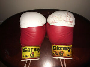Garmy Red and White Boxing Gloves