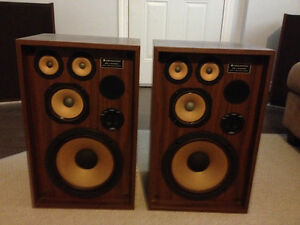 VINTAGE KENWOOD KL 4090 SPEAKERS AND RECORDS