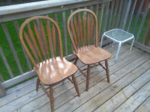 2 Matching Wooden Chairs!