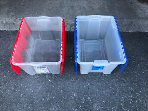 storage totes / container $4 each