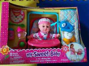 NEW: MY SWEET BABY 4 IN 1 BABY SET