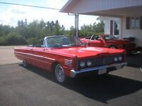 FOR SALE 1965 MERCURY CONVERTIBLE