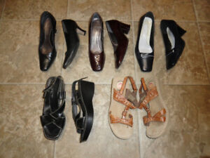 Leather High Heels Dressy Shoes & Sandals - Size 7