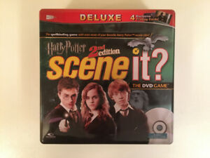 Harry Potter Scene It 2nd Edition Deluxe COMPLETE Tin box Game